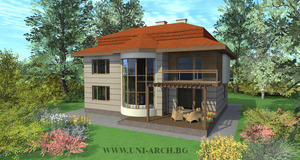 Architectural project - energy-efficient home design